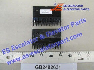 KONE GB2482631 PLASTIC Comb Plate BLACK 18 TEETH Z1