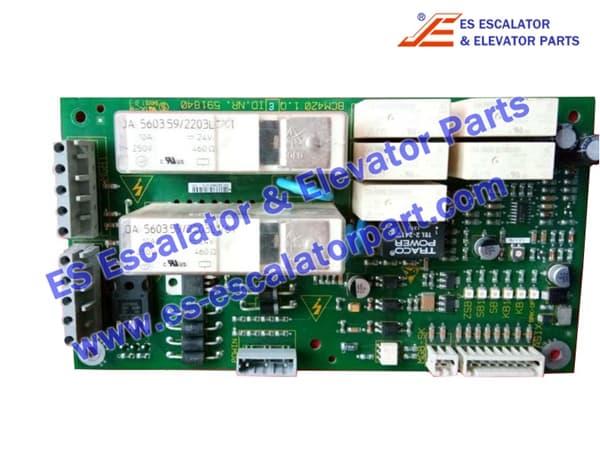 Schindler Elevator 591840 PCB BCM420 1.Q
