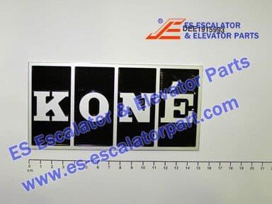 KONE DEE1915993 NAME PLATE KONE FRANCE 148X74X4MM G