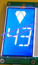 KONE KM1373005G01 HP indicator LCD blue