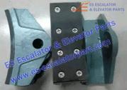 Hitachi 14E brake shoe brake block machine brake lining