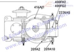 OTIS 209A2 Machines Bearing Needle Brake Lever Center Pivot