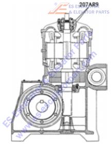 207AR9 Machines Bearing Thrust at Top of Motor