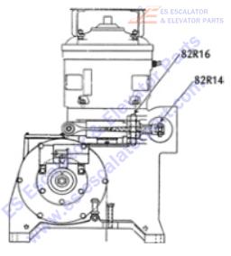 OTIS 82R16 Machines Pin Pivot Brake Lever at Gearcase
