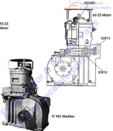 OTIS 207AR9 Machines Bearing Thrust 60 ES Motor