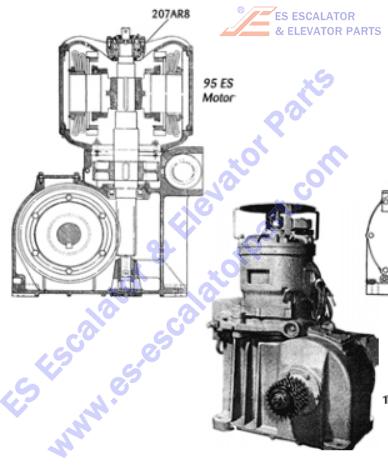 OTIS 207AR8 Machines Bearing Thrust 95 ES Motor