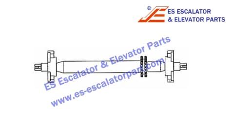 Handrail shaft XAA26180CL1