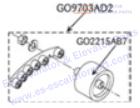 OTIS GO9703AD2 Rollers