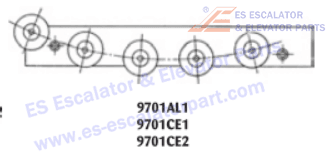 OTIS 9701CE2 Rollers