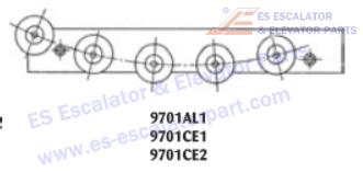 OTIS 9701CE1 Rollers