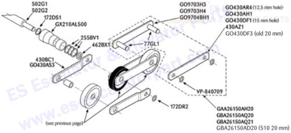 OTIS GAA26150AQ20 Step Chains