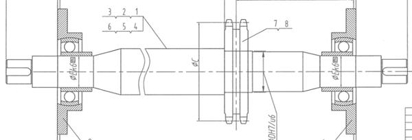 HYUNDAI C61300036 Shaft