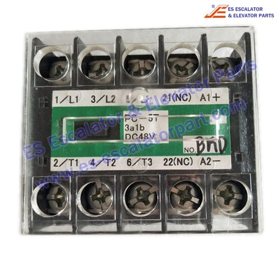 ESMitsubishi PC-5T-3A1B-DC48V elevator contactor