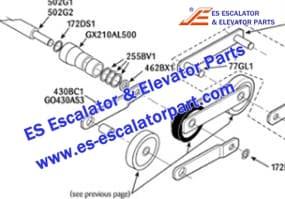 OTIS Escalator 255BV1 Step chain axle ring