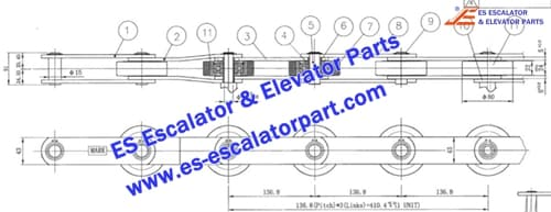 LG/SIGMA Escalator Parts Step Chain 1