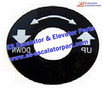 Thyssenkrupp Escalator Parts 1737817600 up-down sign