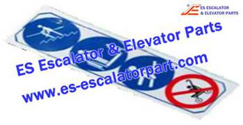 Thyssenkrupp Escalator Parts 1738744600 Safety label EN115-2007