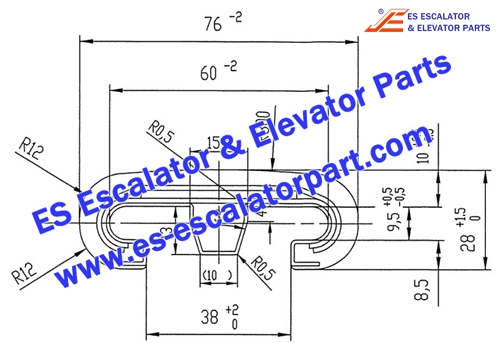 ESOTIS Escalator Parts V-Type 513 Handrail