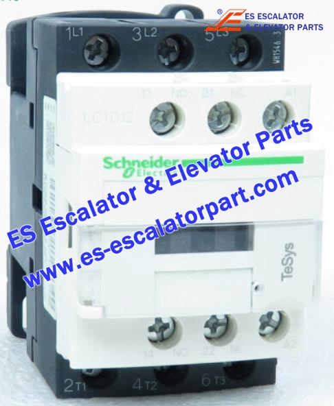 Schneider Escalator Parts LC1D12 Contactor