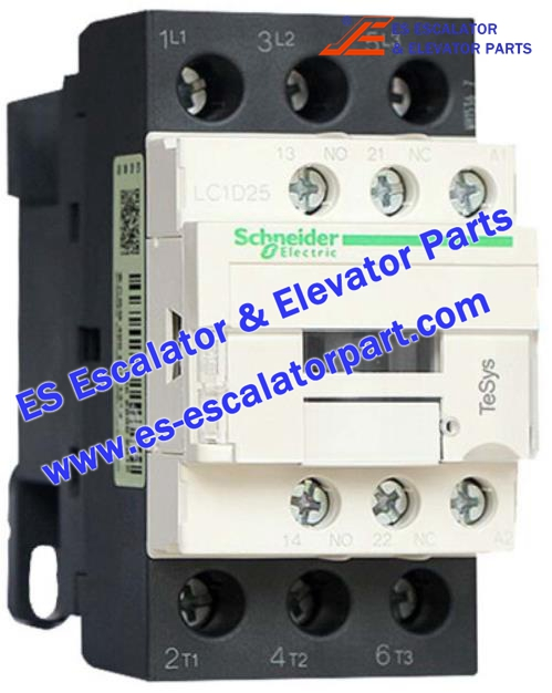 Schneider Escalator Parts LC1D25 Contactor