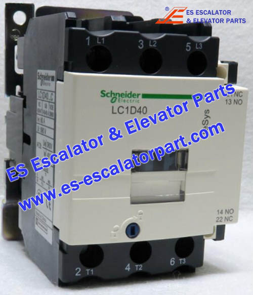 Schneider Escalator Parts LC1D40 Contactor