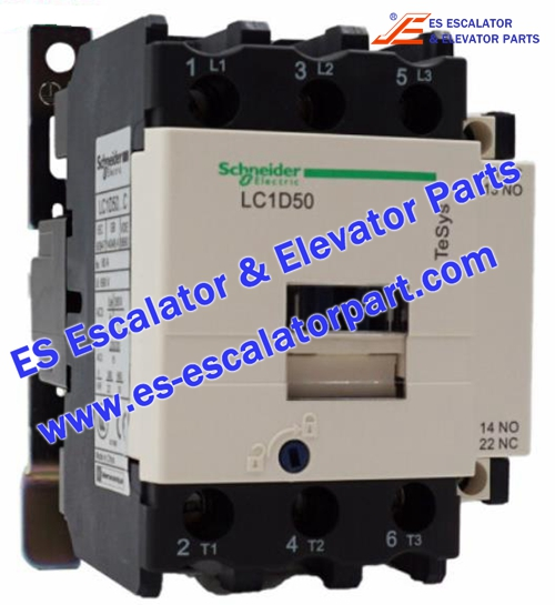 Schneider Escalator Parts LC1D50 Contactor