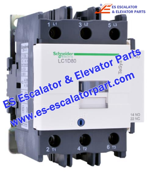 Schneider Escalator Parts LC1D80 Contactor