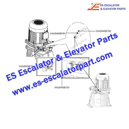 OTIS Escalator Parts XAA20400E703 Non Reversing Device