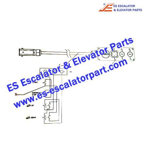 OTIS Escalator Parts DAA26220BT1 Inspection box