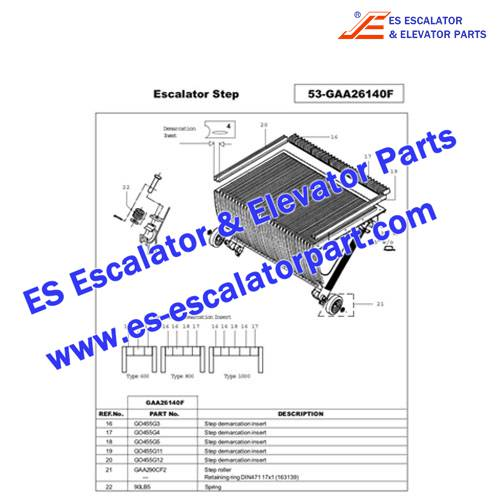 ESOTIS Escalator GO455G3 Step Demarcation NEW