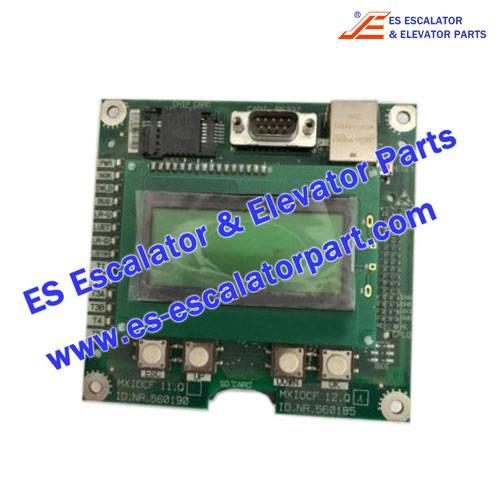 Schindler Elevator ID.NR.560185 PCBA MXIOCF 12.Q