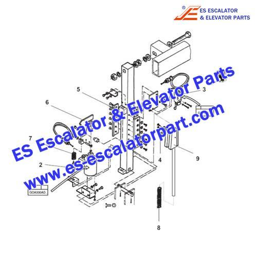 OTIS Escalator GAA26220A NPE513 Auxiliary brake