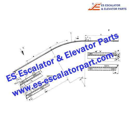 OTIS Escalator GB483AAB8 Track connection part