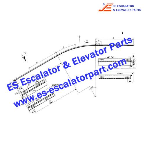 OTIS Escalator GB483AAA9 Track connection part