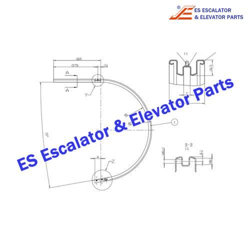 KONE Escalator 5070658D10H01 Profile Handrail Guide HD