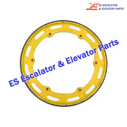 Escalator KM5281443G01 wheel with rubber layer