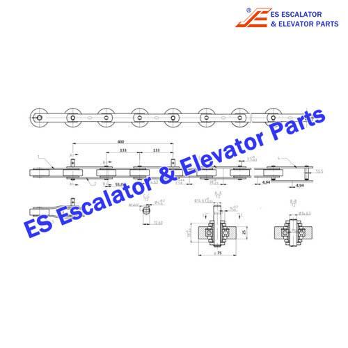 Canny/KONL Escalator ST133F3 Step Chain