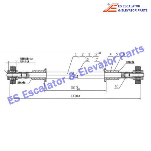 ESHYUNDAI S650B001 180KN Chain with axle
